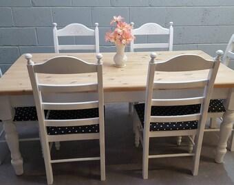 Stunning 6ft Shabby Chic Farmhouse table set