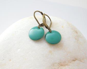 GREEN DOTS earrings