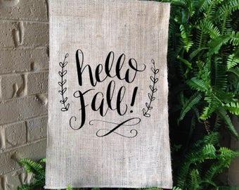 Hello Fall Garden Flag