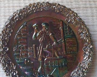 Fenton Craftsman Series Plate, no.3, 1972