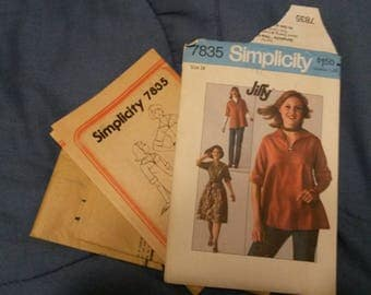Simplicity#7835 uncut pattern top or dress from 1976!