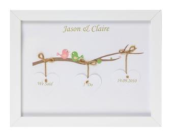 Framed Personalised Wedding Day Artwork