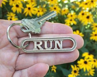 Gift for runners, RUN keychain, running gift, fitness gift, running accessory, running motivation, sports keychain, running jewelry