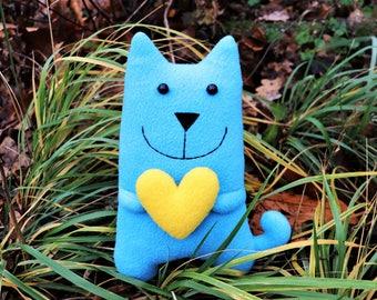 Blue cat toy