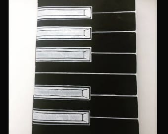 Piano notebook for musicans. Black &white