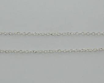 2 m side silver twist chain - Ref: CA119