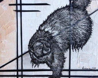 Custom Soul Painting/ spirit, wolverine, animal, animal guide, power animal, painting, original, art, drawing, sacred, geometry