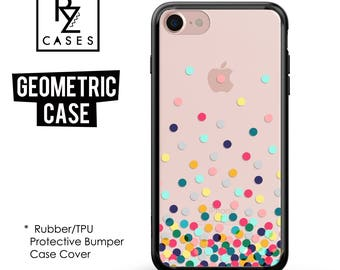 Geometric Case, iPhone 7 Case, Dot Phone Case, Round Phone Case, iPhone 6 Case, Geometric, iPhone 7 Plus, Rubber Case, Bumper Case