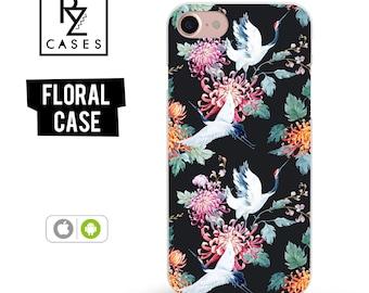 Floral Phone Case, iPhone 7 Case, Flower Phone Case, iPhone 6s Case, Floral iPhone Case, iPhone 5 Case, iPhone 6 Plus, Samsung Galaxy S7