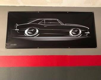 1967 1968 Chevy Camaro BIG BANNER '67-'68 SS Chevrolet