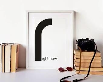 Scandi poster, hygge print, modern quote art, office wall art, teen room decor, scandinavian typography print, modern wall art, nordic print
