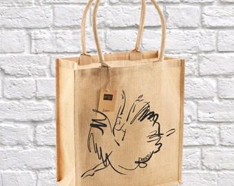 Dance Tote Bag, Dance Wear, Dancer Gift, Shoe Bag