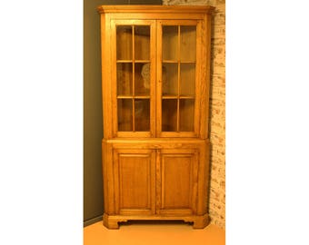 English Bespoke corner cupboard.