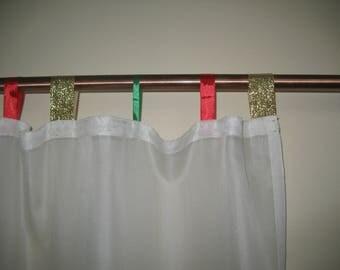 New year's Gift, chiffon curtain, chiffon curtain, off white chiffon curtain