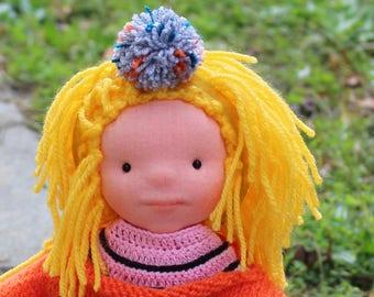 FREE SHIPPING , Waldorf doll , organic doll , eco friendly , 13'' Waldorf inspired doll ,
