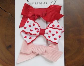 Grosgrain Valentine's Day Bow Set