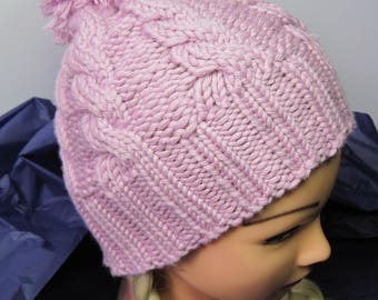 Cable knit winter Hat