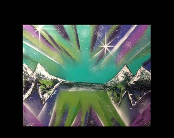 """Abstract """"Hypnosis"""" spray paint"""