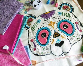 PDF Chart - Panda Sugar Skull Cross Stitch