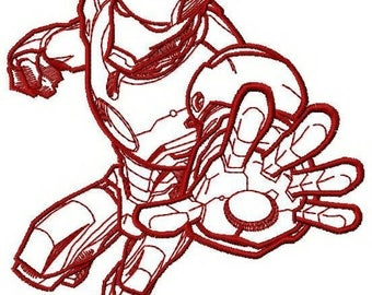 Iron Man STOP machine embroidery design