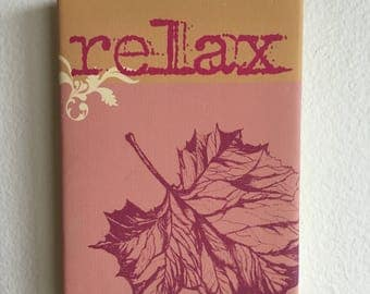 Relax into Autumn | Art Wall Hanging