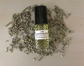 Organic Aromatherapy Roll-On Blend...CALM/Roll-On/Stress Relief/Anti-Anxiety/Natural Remedy/Organic Essential Oils/Esthetician Made