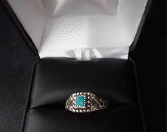 Vintage Bell Sterling silver simulated stone ring