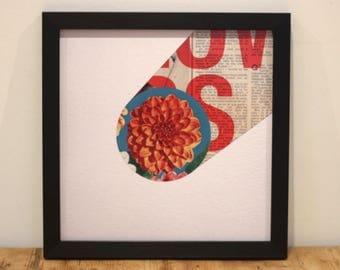 Flow - Digital Collage Art Print Poster