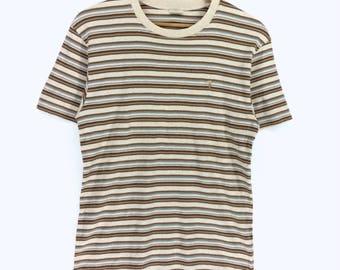 Vintage Trussardi T-shirt Trussardi Striped Wear Trussardi Nice Design.