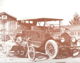 "US ARMY Motor Pool 9"" X 12"" Sepia"