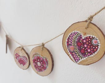 Wall Hanging 5 Hearts |FREE SHIPPING