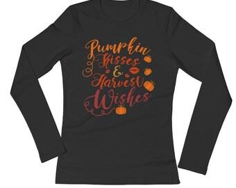 Pumpkin Kisses Harvest Wishes Fall Thanksgiving