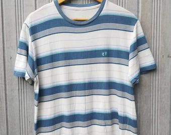 Vintage Hang Ten Striped TShirt Size M