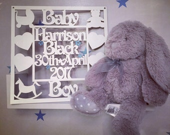 Personalised Baby Boy / Baby Girl Plaque