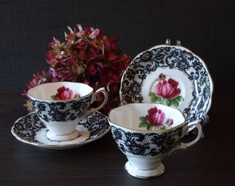 Royal Albert Senorita 2 tea cups and saucers very rare