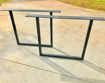 Metal Table Legs U Shape Set of 2