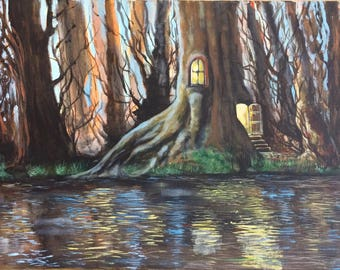 Original Painting - Faerie House