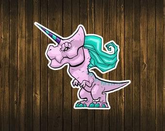 Unicornasaurus Rex Sticker Tyrannosaurus Rex T-Rex Unicorn