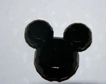 Pearl acrylic - black Mickey