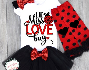 baby girl valentines day outfit pageant wear cute baby girl clothes lady bug - Valentines Baby Outfit
