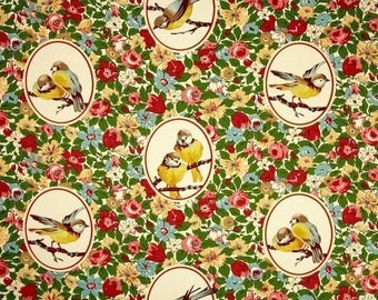 Richloom BUDGIE TWILL Color Garden Canary Birds Home Decor Drapery Upholstery Sewing Fabric By the Yard BTY