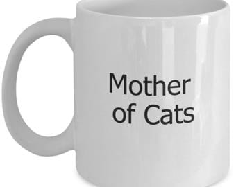 mother of cats, cat lover gift mug, cat coffee mugs, cat lovers gift mug, crazy cat lady, cat mug, cat mugs, cat mugs gifts, cat lady gifts