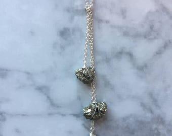 Triple Pyrite Necklace