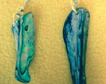 Paua Shell Drop Earlings in different styles