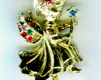 BEATRIX Christmas Angel Pin, 1 in. x 1 1/2 in.
