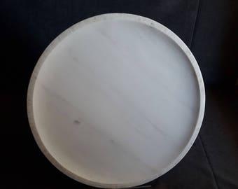 Minimalist Handmade Marble Platter, Marble tray