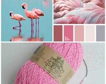 Pink yarn Eco yarn Cotton yarn Linen yarn Summer yarn Crochet yarn Ethno-cotton 1200 Cotton linen yarn Premium yarn Baby yarn