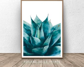 Botanical print, Succulent Print, Agave Print, Agave, Cactus Print, Cacti, Floral Art, Modern Wall Art, Home Decor, Cactus Photography