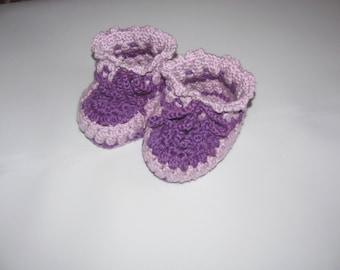 Baby booties handmade crochet.