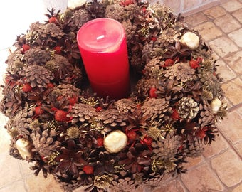 Paper Christmas Wreath Xmas Decoration Door Inside Home